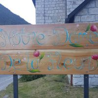 """Panneau de l'Eglise """"Notre Dame de la Fleur"""""""